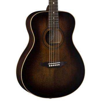 Luna Guitars Art Vintage Folk Solid Top Distressed Vintage Brownburst. Guitarra Acústica
