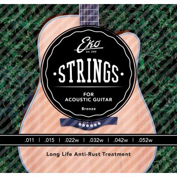 Eko Bronze Medium Light 11-52 Cuerdas Para Guitarra Acustica