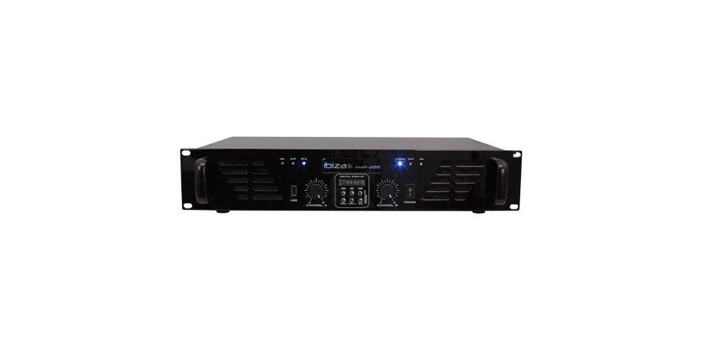 IBIZA SOUND AMP300USB-BT, Etapa Potencia 2 x 240 W, USB y BLUETOOTH