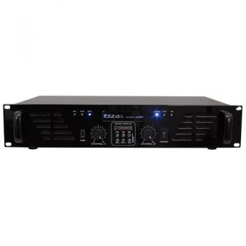 IBIZA SOUND AMP300USB-BT, Etapa Potencia 2 x 240 W, USB y BLUETOOTH ( REACONDICIONADO )