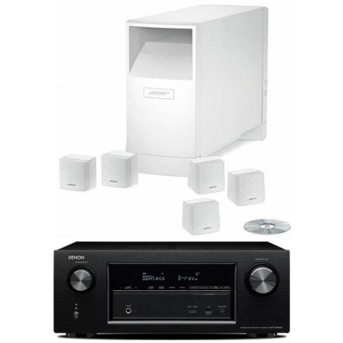 DENON AVR-X2200-AM6 Blanco Conjunto Home Cinema
