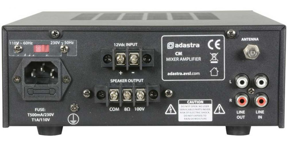 ADASTRA CM60B Amplificador Línea 100V