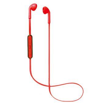 NEVIR 961-BE Auriculares De Boton Bluetooh Rojo