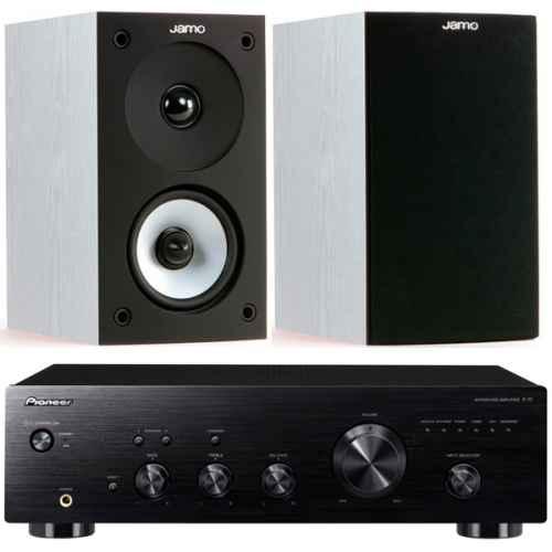 pioneer a10k black amplificador estereo jamo s622 white