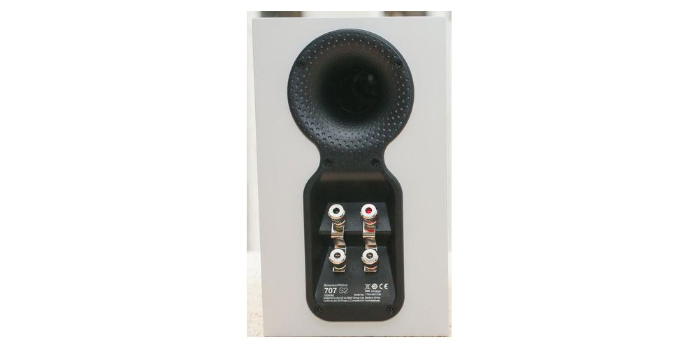 bowers and wilkins 707 s2 blanco white biamplificadas bass reflex