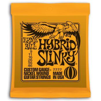 Ernie Ball 2222 Set cuerdas Electrica SLINKY  ORANGE HYBRID 9-46