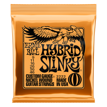 Ernie Ball 2222 Set cuerdas Electrica SLINKY  ORANGE HYBRID 9-46