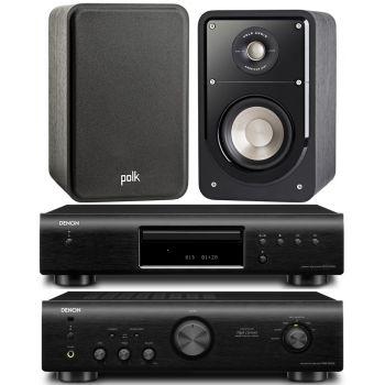 DENON PMA-520 BK+DCD520 BK+ POLK AUDIO S15B
