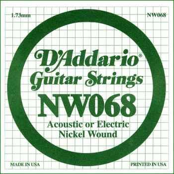 D´addario NW068 Cuerda Suelta para Guitarra Eléctrica