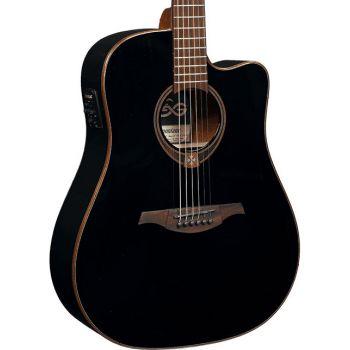 LAG T118DCE-BLK Guitarra Electro Acústica Formato Dreadnought con Cutaway Serie Tramontane Acabado Negro Mate