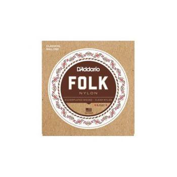 D´addario EJ32C Set de cuerdas de nylon para guitarra Folk