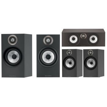 BW 606+BW607+BW HTM6 Black Altavoces Home Cinema