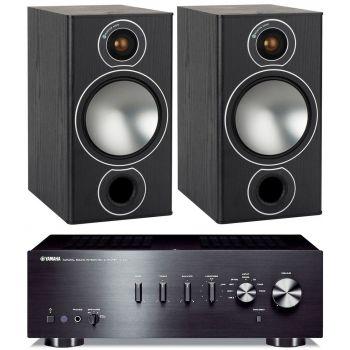 Yamaha AS301 Black+Monitor Audio Bronze 2 Black Conjunto Audio