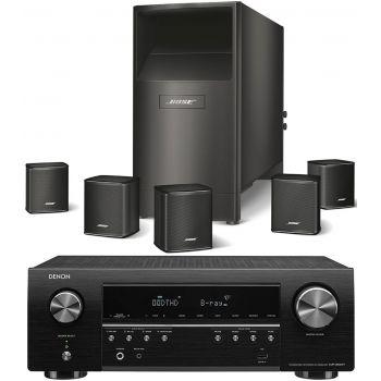 DENON Equipo AV AVR-S650+Bose AM-6V Negros Altavoces Home Cinema