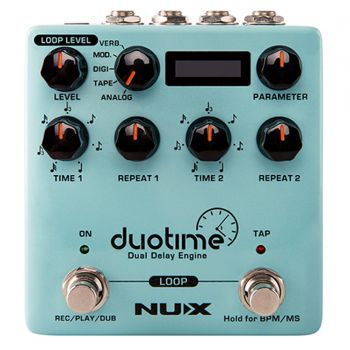 NUX NDD-6 Duotime Dual Delay Pedal De Efectos