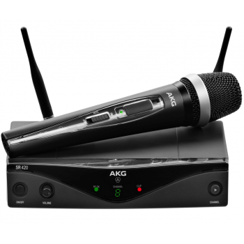 AKG WMS-420 VOCAL Capsula D-5  Microfono Inalambrico Mano,Banda B2