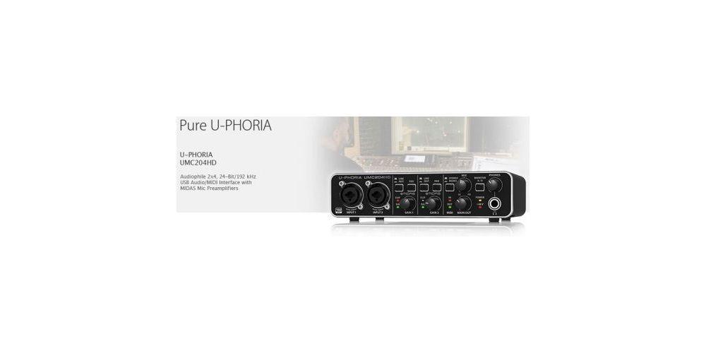 BEHRINGER UMC204HD U-PHORIA  Interface de Audio/Midi USB, UMC-204HD