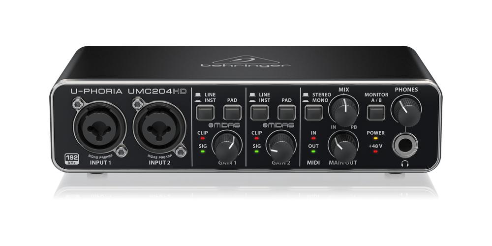 UMC204HD behringer tarjeta sonido
