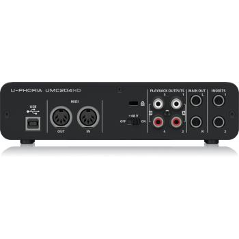 BEHRINGER UMC204HD U-PHORIA Interface de Audio/Midi USB