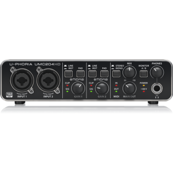 BEHRINGER UMC204HD U-PHORIA  Interface de Audio/Midi USB, UMC-204HD
