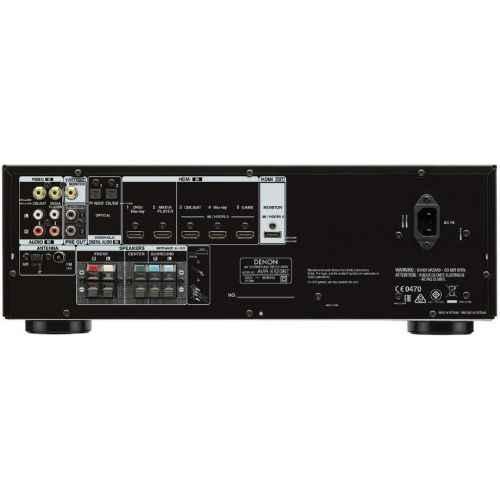 receptor home cinema denon avr x520 5 1 conexiones