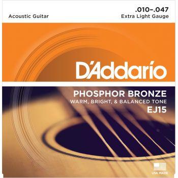 D Addario EJ-15 (010-047) Cuerda Guitarra Acústica
