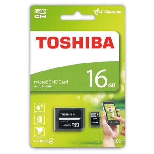 TOSHIBA Micro SD 16Gb Clase 4 + Adaptador SD