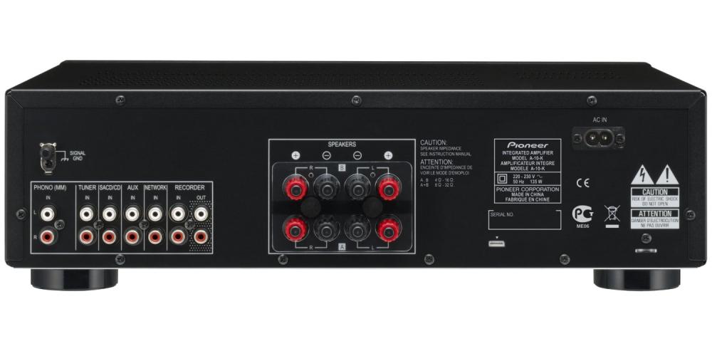 pioneer a10k amplificador conexiones