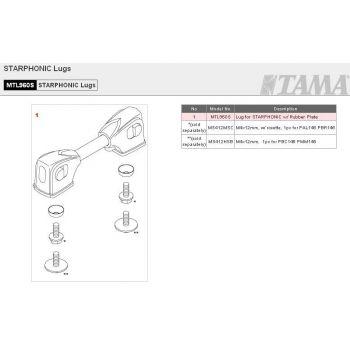 Tama MTL960S, Fijación para caja Starphonic