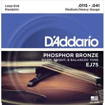 D addario EJ75 Bronze Medium Heavy para Mandolina