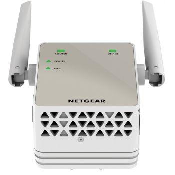 Netgear EX3700-100PES Extensor de red WiFi AC750 Doble banda, antenas externas,1 puerto RJ45