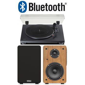 Equipo HiFi TEAC TN-180 BT Giradiscos+ Wiibo NEO 100 Altavoces Activos Bluetooth