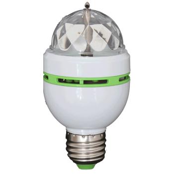 Ibiza Light ASTRO-MICRO EFECTO DE ILUMINACION ROTATIVO DE 3 LED RGB