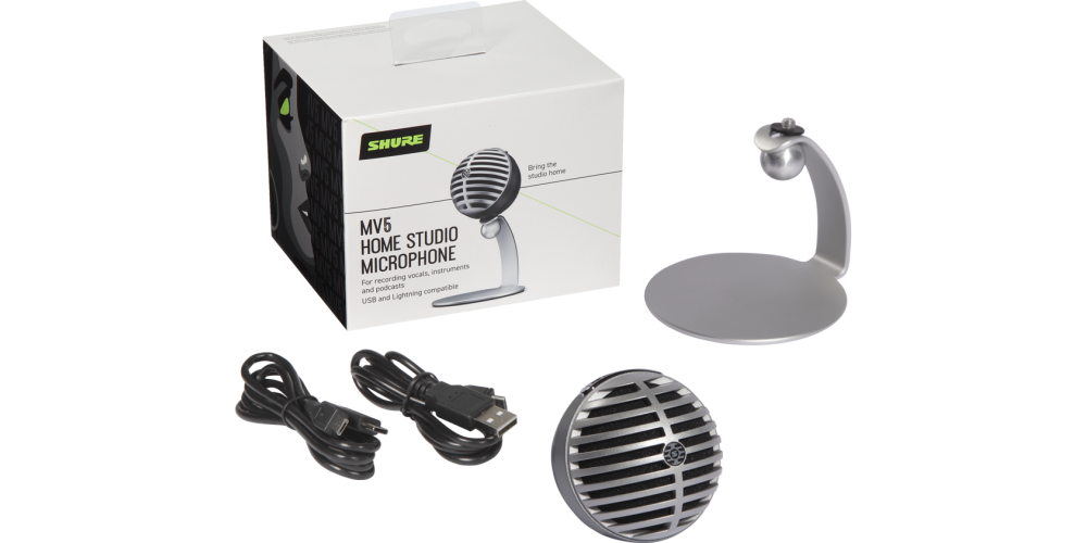 SHURE MV5 DIG Microfono Digital de Condensador Gris con Cable Lightning