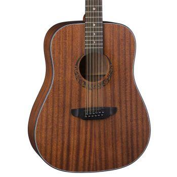 Luna Guitars Gypsy Dreadnough-12 Mahogany Satin Natural. Guitarra Acústica de 12 Cuerdas