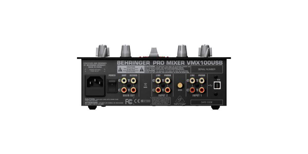 BEHRINGER VMX100 USB Mezclador para DJ Behringer VMX-100 USB Und.