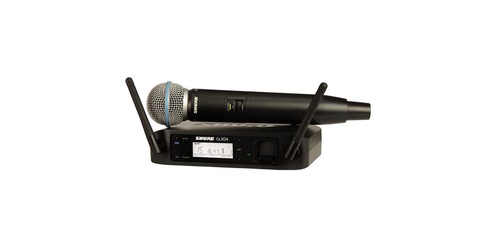SHURE GLXD24E-B58 Microfono inalambrico Digital de Mano Beta 58