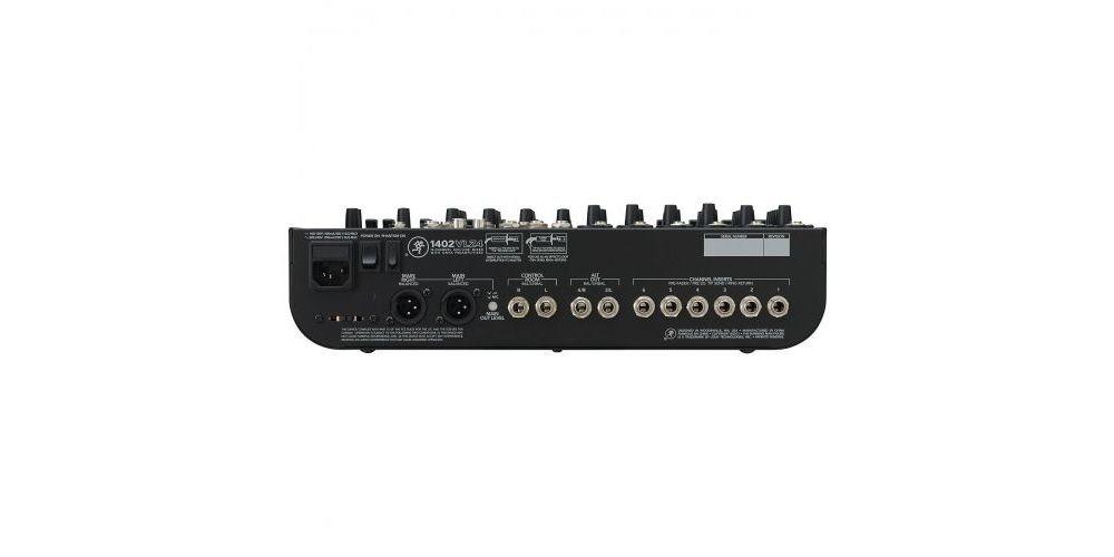 mackie 1402VLZ4 mesa mezclas directo 14canales panel trasero