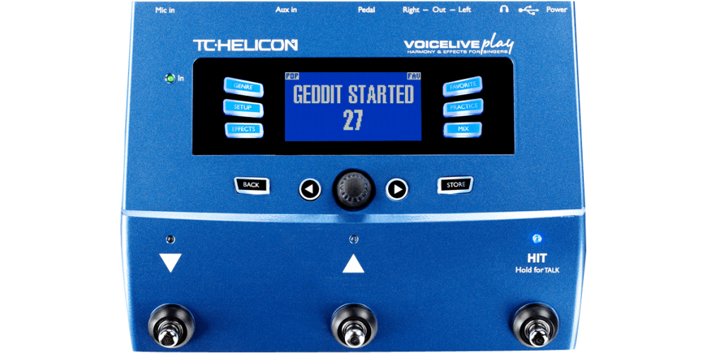 tc helicon voicelive play pedal efectos múltiple