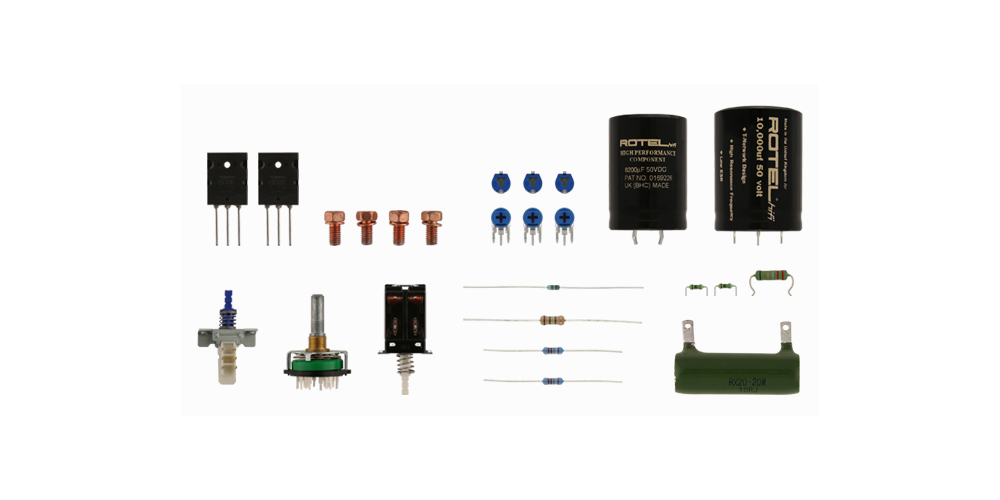 ROTEL A10BK amplificador 40w componentes fabricacion alta calidad