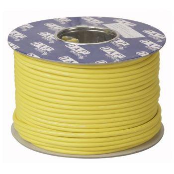 DAP Audio MC-226Y Bobina de cable amarillo para micrófono con doble aislamiento de 100m