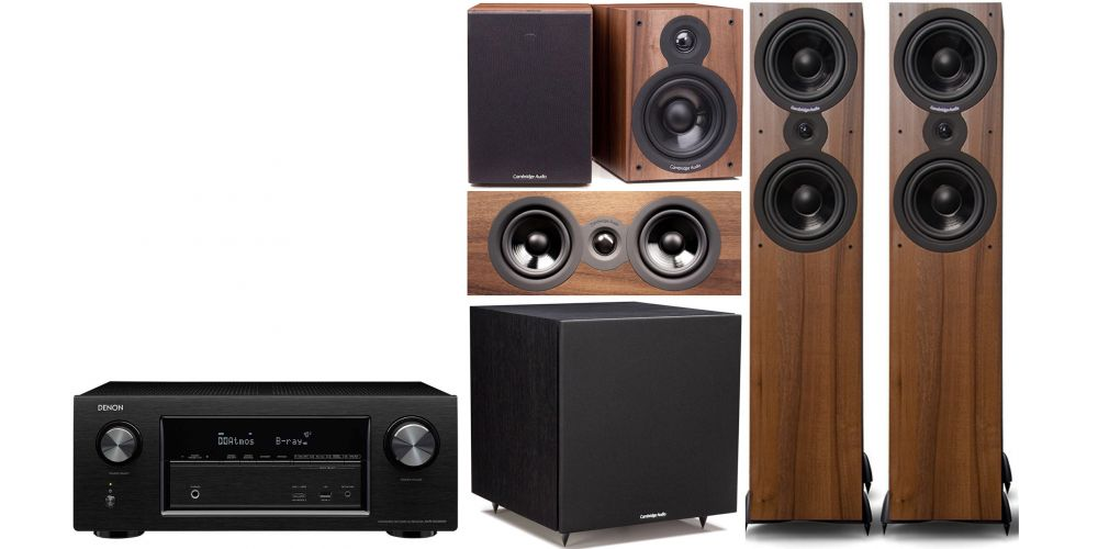 denon avrx2400 Cambridge Audio SX  80 cinema pack sx120  sx80 sx70 sx50 Columna altavoz acabado walnut