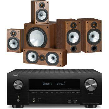 DENON AVR-X2500+Monitor Audio Power 2 Roble Conjunto Home Cinema