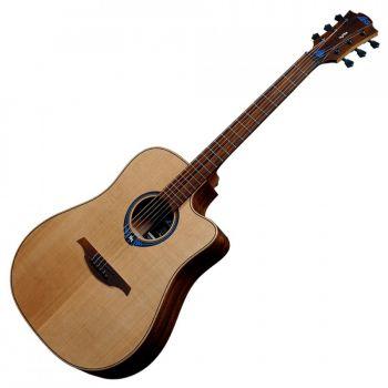 LAG THV10DCE Guitarra Electro Acústica Formato Dreadnought Serie Tramontane con Cutaway