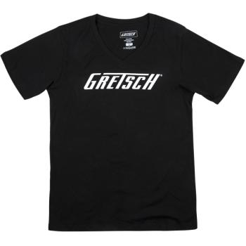 Gretsch Logo Ladies T-Shirt Black Talla L