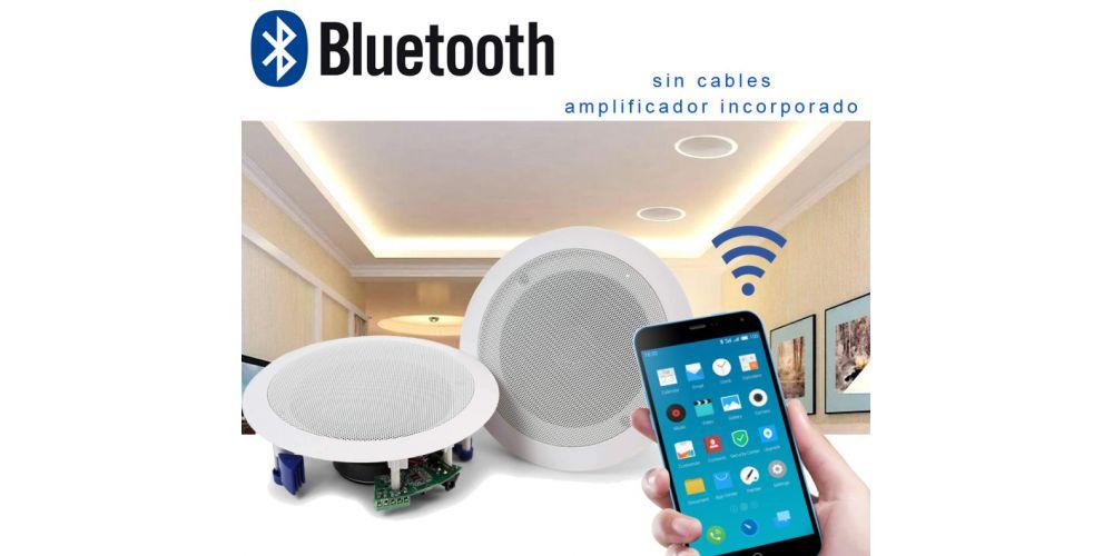 altavoces blancos bluetooth para techo