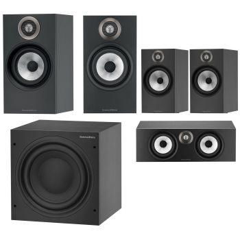 BW 606+BW607+BW HTM6 Black+ASW608 Black Altavoces Home Cinema 5.1