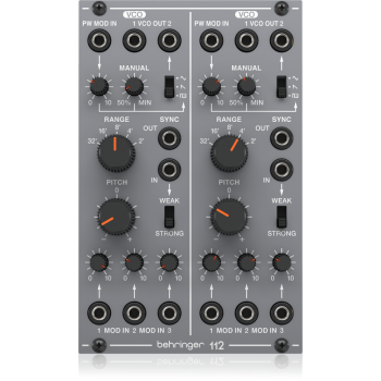 Behringer 112 DUAL VCO Módulo Sintetizador Analógico Dual VCO para Eurorack
