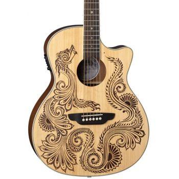 Luna Guitars Henna Dragon A/E Spruce Guitarra Electroacústica