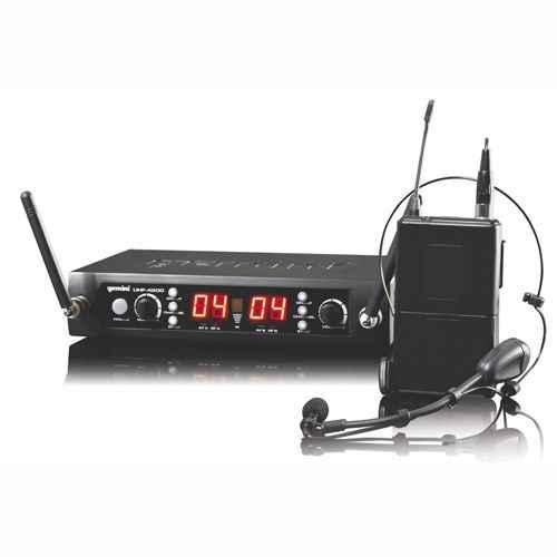 GEMINI UHF-4200HL Microfono Inalambrico Doble Lavalier/Headset  UHF